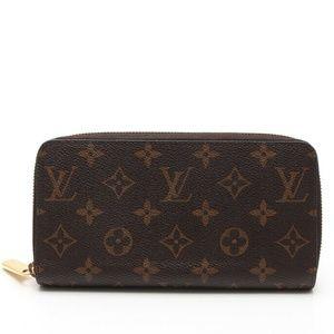 💯 Auth LOUIS VUITTON Monogram Zippy Zip Wallet